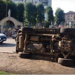 На вулиці Грушевського у Дрогобичі трапилося ДТП (ВІДЕО)