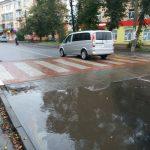 """Вода асфальт """"точить""""… на Грушевського! #Дрогобич"""
