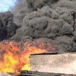 На території Попелівської сільської ради Дрогобицького району горять нафтопродукти