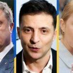 Нові рейтинги: Зеленський лідирує, далі йдуть Тимошенко і Порошенко
