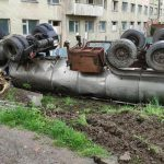 У Трускавці перекинулася вантажівка із цистерною (ФОТОФАКТ)