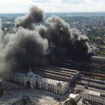 Масштабна пожежа на центральному вокзалі Львів!
