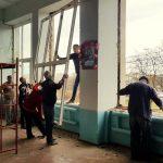 У Бориславі актовий зал школи №7 з новими вікнами та меблями